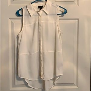Cream colored sleeveless Blouse